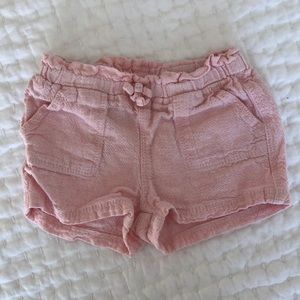 Old Navy Pink Linen toddler girl shorts